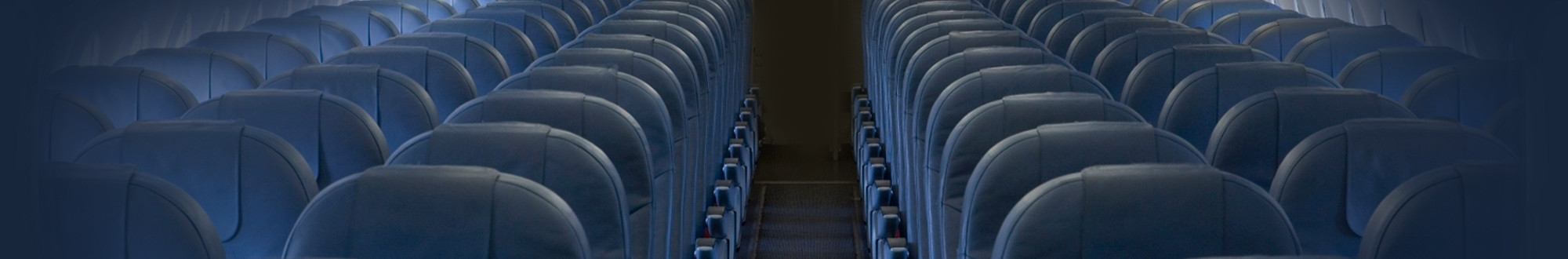 Seats in the interior of an airplane