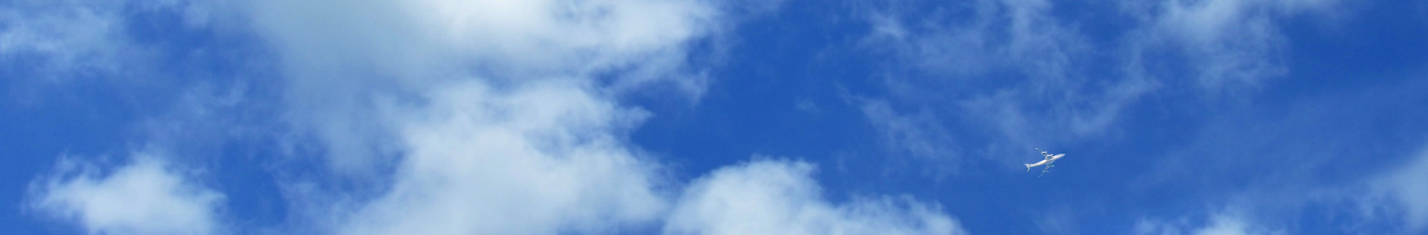 Small airplane in the sky